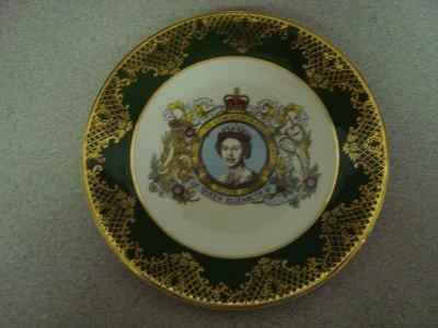 Queen Elizabeth Silver Jubilee Plate Falcon Ware 1977