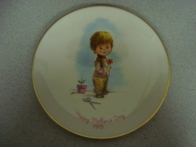 "Vintage 1973 Gorham ""Moppets""  Mother's Day Plate"