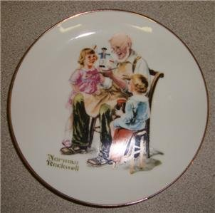 """1984 Norman Rockwell Collector Plate """"The Toymaker"""""""