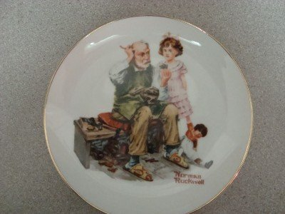 1984 Norman Rockwell Museum Collector Plate The Cobbler