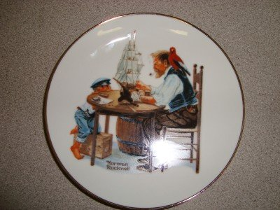 "1984 Norman Rockwell Collector Plate ""For a Good Boy"""