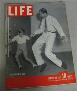 Life Magazine August 25 1941 Fred Astaire & Son