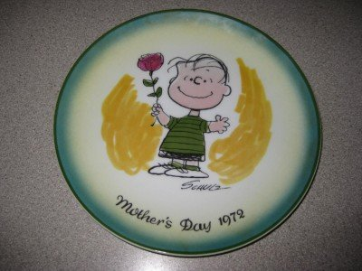 Mothers Day 1972 Schmid Linus Peanuts Plate Ltd 1st Ed