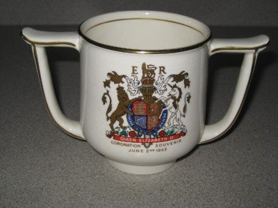 1953 Queen Elizabeth Souvenir Mug Royal Staffordshire