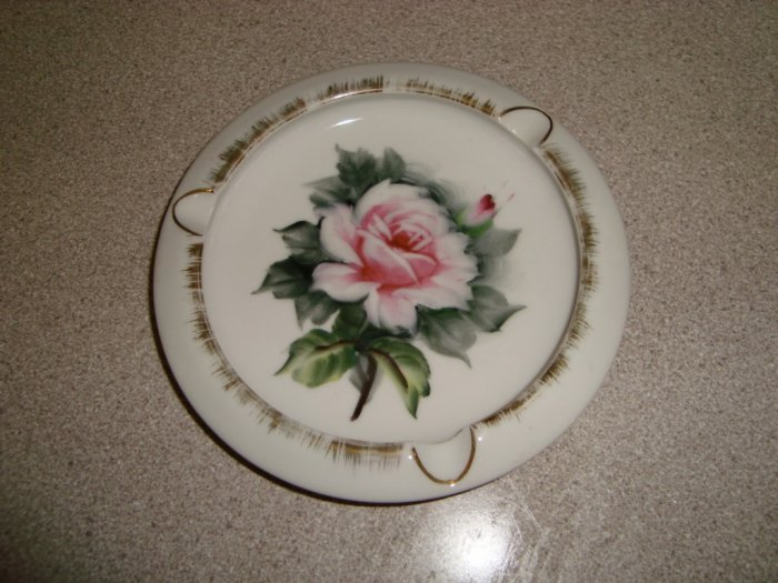 Vintage Lefton Ashtray Chic & Shabby Rose Ashtray