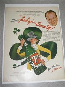 "1946 ""Fresh Up with Seven Up"" 7-Up Life Irish Clover"