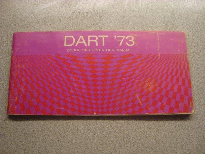 Original Dodge Dart Owner's Operator's Manual 1973