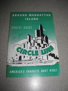 Vintage Circle Line Manhattan Island Cruise Guide 1959