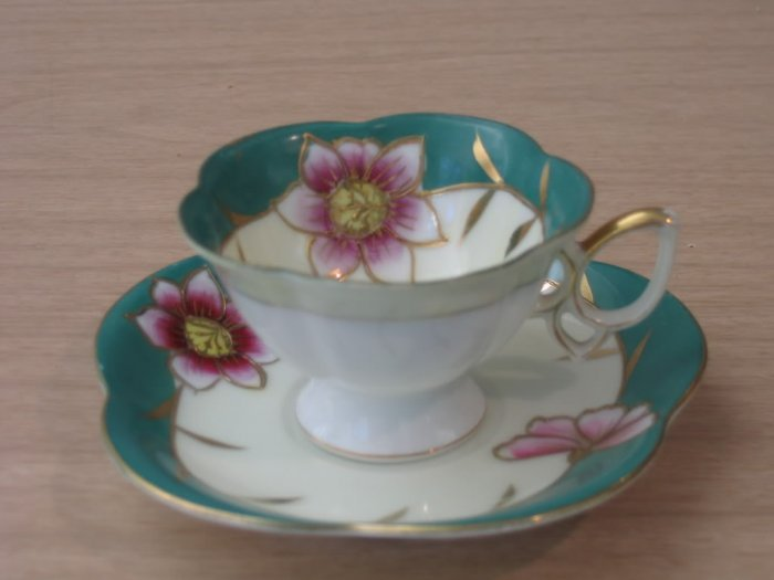 Ucagco China Cup & Saucer Hand Painted Japan Vintage