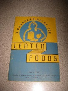 Vintage 1936 Shoppers Guide to Lenten Foods IGA Stores