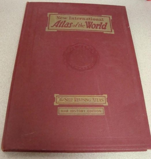 New Int'l Atlas of The World- War History Edition 1947