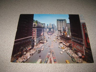 Vintage 1950's Large Postcard Times Square New York