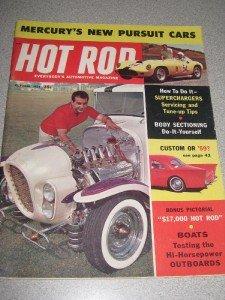 Hot Rod Magazine Oct 1958 Superchargers Mercury Cop Car