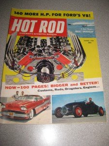 Hot Rod Magazine August 1958 Ford V8 Boat Drag Racing