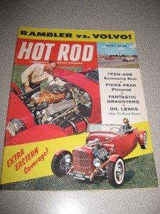 Hot Rod Magazine September 1958 Rambler v Volvo