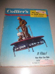 Colliers Magazine April 29, 1955 Navys Flying Saucer