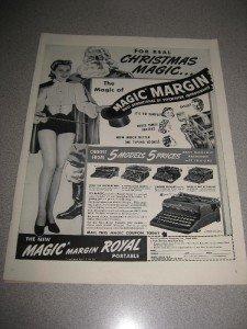 Vintage 1939 Ad Magic Margin Portable Royal Typewriter