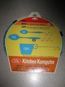 Vintage Foley Kitchen Komputer Multiply Divide Recipes