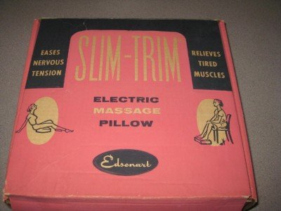 Vintage Slim Trim Electric Massage Pillow Unused