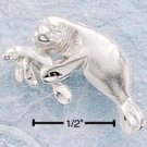 CH-92 : STERLING SILVER DC MOTHER AND BABY MANATEE CHARM