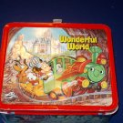 1980 ALLADIN - METAL - WALT DISNEY'S WONDERFUL WORLD/WORLD ON ICE - LUNCHBOX & THERMOS EXCELLENT
