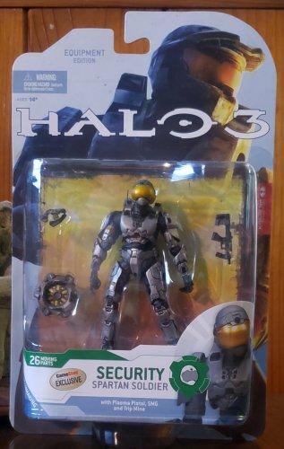 HALO 3 SERIES 4 -- SPARTAN SOLDIER SECURITY (STEEL) GAMESTOP