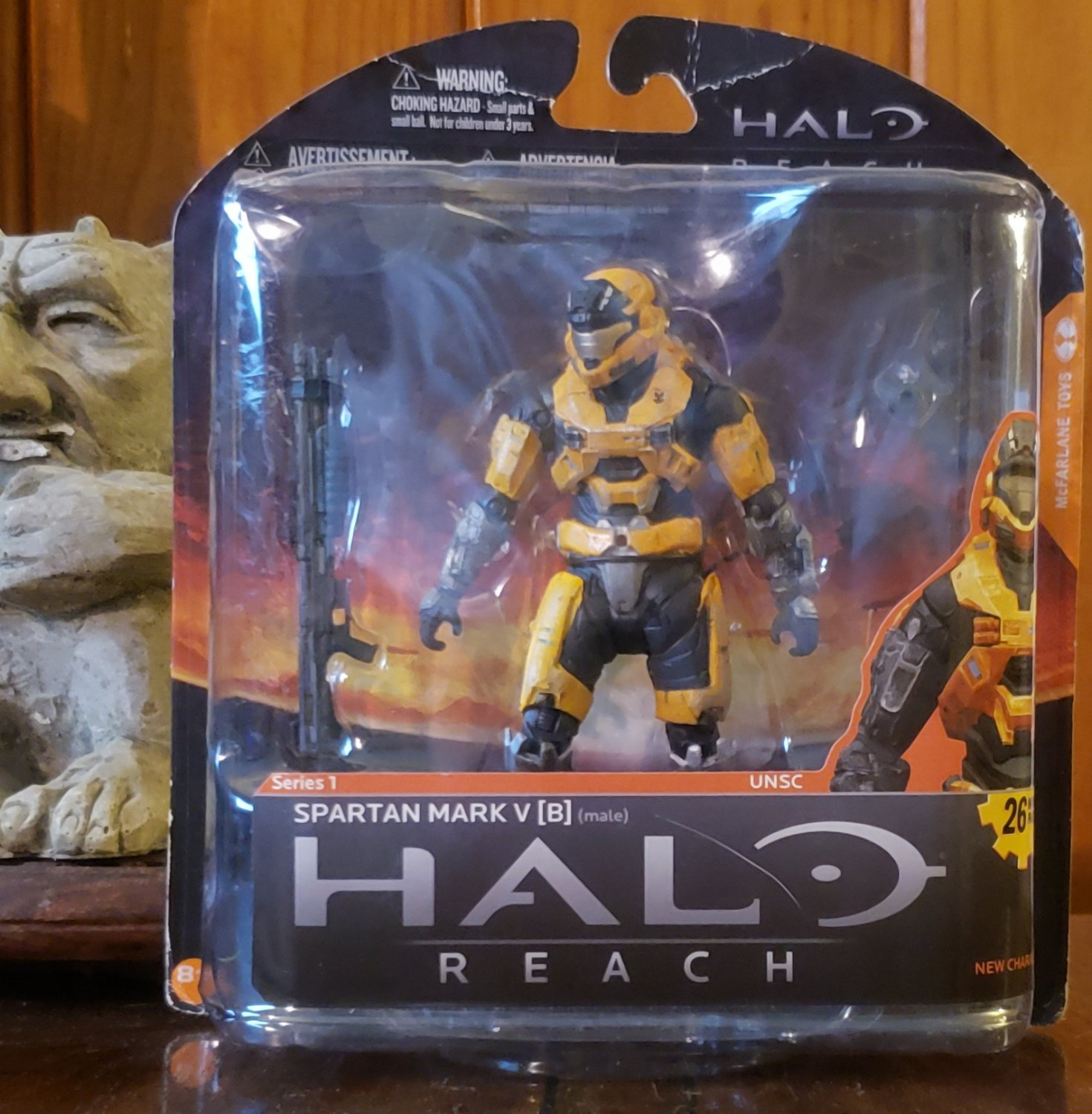 HALO REACH SERIES 1 -- MARK V (B) MALE --  GOLD/STEEL -- BRAND NEW