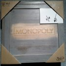 RUSTIC MONOPOLY Board Game (wooden design) Brand New