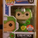 FUNKO POP - MEGAMAN: GYRO-ATTACK (8-BIT) CANADIAN CONVENTION EXCLUSIVE (GITD) NEW