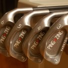 PING ZING IRONS (RED DOT) 3-6, SW -MRH- USED -Very Good Condition- - Graphite