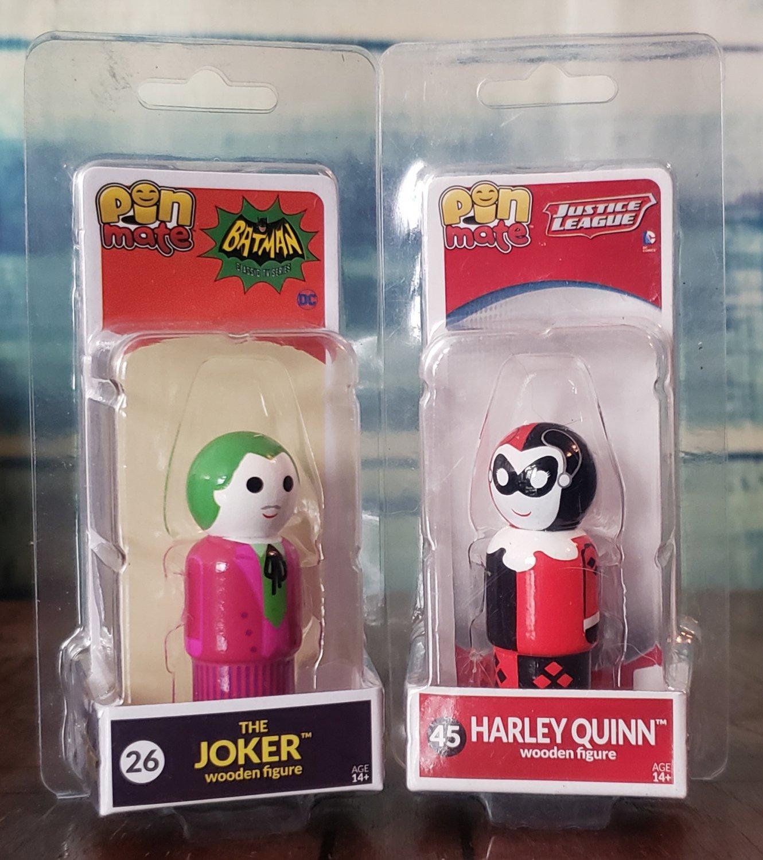 PIN MATES - DC COMICS _ JOKER & HARLEY QUINN (NEW)