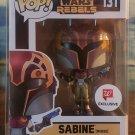 FUNKO POP Star Wars: Rebels - SABINE(with helmet on) #131 w/POP Shield protector NEW MANDALORIAN