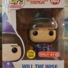 FUNKO POP - STRANGER THINGS - WILL the WISE #805 (GLOW IN THE DARK) Target Exclusive w/ PoP SHIELD