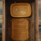 Handmade BARNWOOD SHADOW BOXES - Featuring 3/14/1868 Patent & Documents (1968)