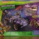 MEGA BLOKS - TMNT - Donnie Turtle Racer - DONNIE/CASEY JONES A04077ML (NEW) 129 Pcs
