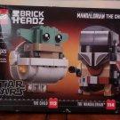 LEGO - BRICK HEADZ -  The Mandalorian #114 and The Child #113 - 248R0