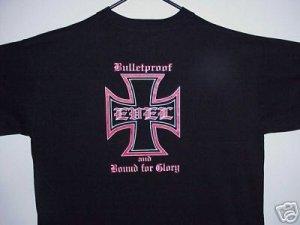 "Evel Knievel Iron Cross T-shirt ""Bound for Glory "" Size Large"