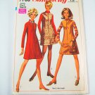 Simplicity 7758 Juniors' Zip Front Dress or Jumper in 2 Lengths - SZ 9