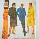 McCall's 9482 Men's Robe or Lounge Jacket with Transfer for Monogram - SZ Lg