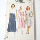 Vintage Vogue 8991 Misses Pleated Front Dress - Sz 12