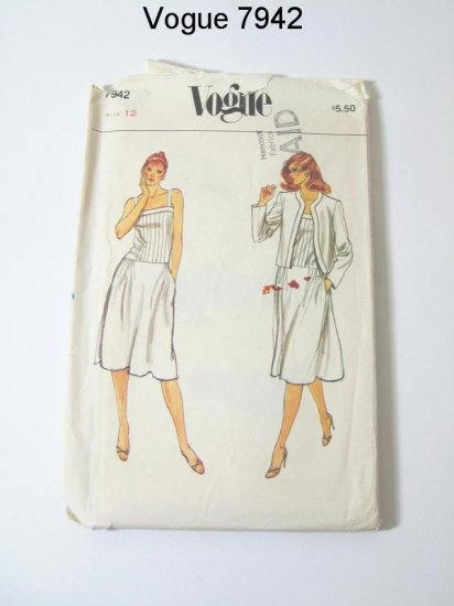 Vintage Vogue 7942 Misses Jacket and Dress - Sz 12