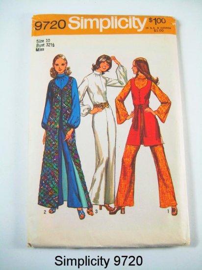 Vintage Simplicity 9720 Misses' Vests and Jumpsuit - Sz 10