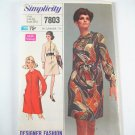 Vintage Simplicity 7803 Misses' Button Front Dress - Sz 10