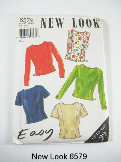 New Look 6579 Misses' Tops in 4 Variations - Size 10-22