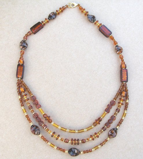 Amber bead necklace *On sale for $21.99 with Free Shipping!*