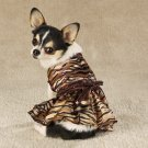 Sequined Tigress Dog Dress Costume Silky Pug Small S