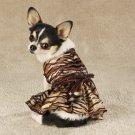 Sequined Tigress Dog Dress Costume XXS Toy Teacup Yorki