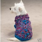 Shimmer Luxury Cable knit Dog Sweater W/Pom Poms S Smal