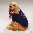 ENGLiSH RUGBY COLLEGE Dog Sweater W/Plaid Scarf Small S