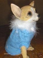 Bijou Baby Blue Dog Sweater Clothes XS XSmall Yorkie NW
